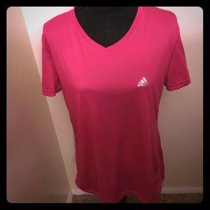 Adidas climate v- neck T-shirt.